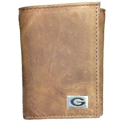 Georgia Genuine Leather Tri-Fold Wallet