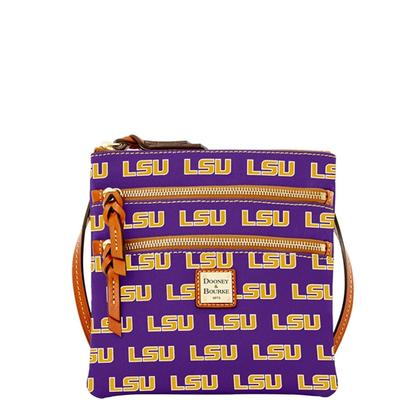 LSU Dooney & Bourke Triple Zip Crossbody Bag