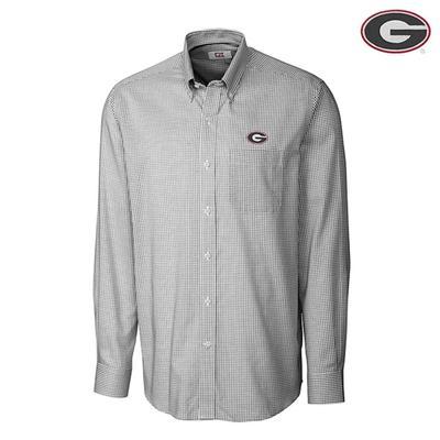 Georgia Cutter & Buck Big and Tall Tattersall Woven Shirt