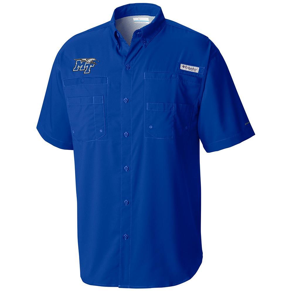 Mtsu Columbia Tamiami Short Sleeve Woven Shirt