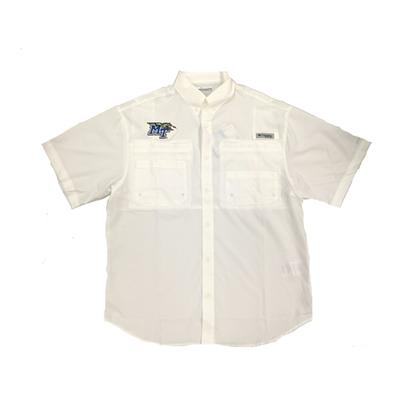 MTSU Columbia Tamiami Short Sleeve Woven Shirt WHITE