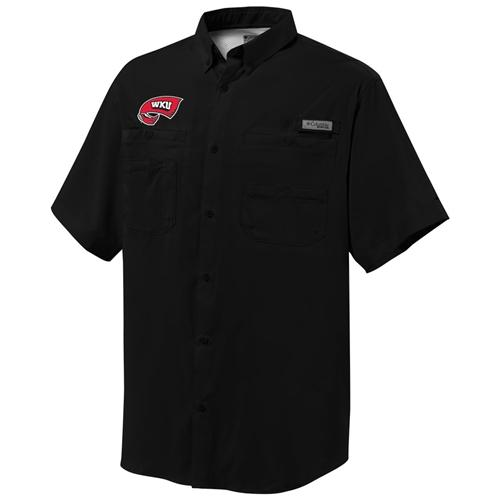 Western Kentucky Columbia Tamiami Short- Sleeve Woven Shirt
