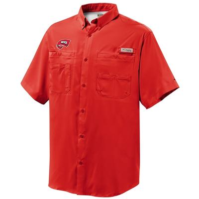 Western Kentucky Columbia Tamiami Short-Sleeve Woven Shirt RED