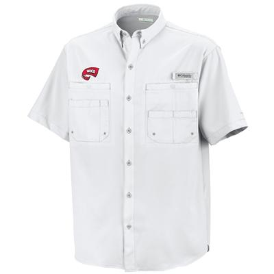 Western Kentucky Columbia Tamiami Short-Sleeve Woven Shirt WHITE