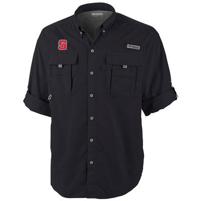 NC State Columbia Bahama Long Sleeve Woven Shirt BLACK