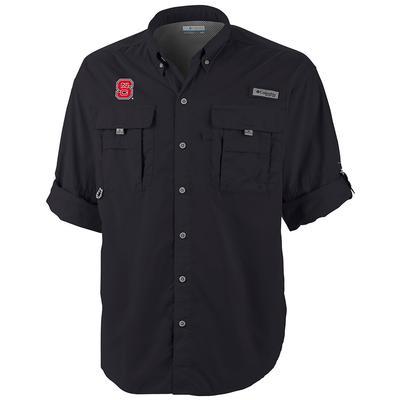 NC State Columbia Bahama Long Sleeve Woven Shirt