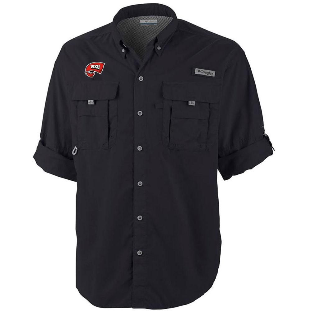 Western Kentucky Columbia Bahama Long Sleeve Woven Shirt