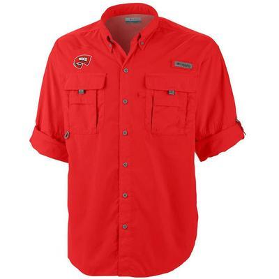 Western Kentucky Columbia Bahama Long Sleeve Woven Shirt RED