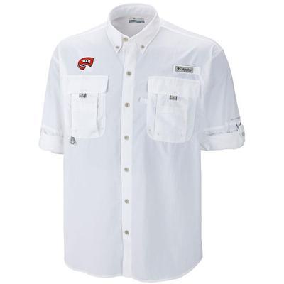 Western Kentucky Columbia Bahama Long Sleeve Woven Shirt WHITE