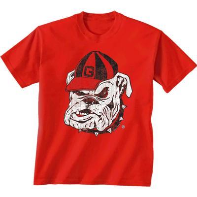 Georgia Giant Bulldog Logo T-shirt RED