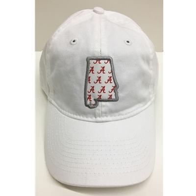 Alabama Legacy Women's State Outline Adjustable Hat