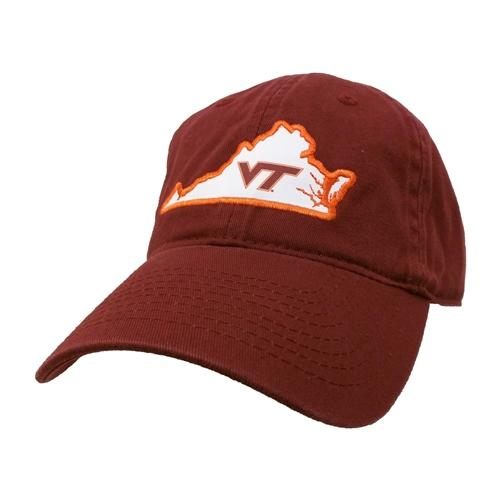 Virginia Tech Legacy Women's State Outline Adjustable Hat
