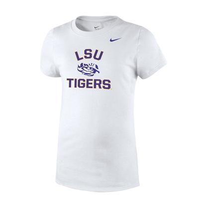 LSU Nike Youth Girls Short Sleeve Arch Tee