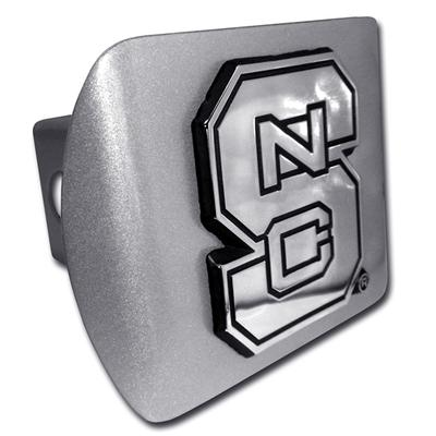 NC State Metal Hitch Cover BRUSHED_CHROME_HITCH