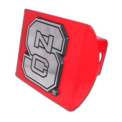 NC State Metal Hitch Cover RED_HITCH