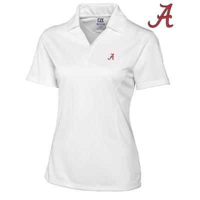Alabama Cutter & Buck Women's Drytec Genre Polo WHITE