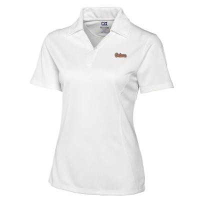Florida Cutter and Buck Women's DryTec Genre Polo WHITE