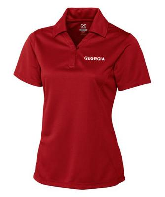 Georgia Cutter and Buck Women's DryTec Genre Polo RED