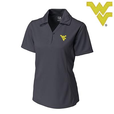 West Virginia Cutter and Buck DryTec Genre Polo ONYX