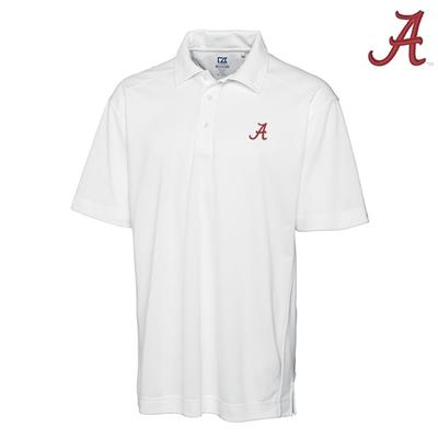 Alabama Cutter and Buck DryTec Genre Polo WHITE