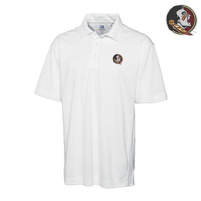 Florida State Cutter and Buck DryTec Genre Polo WHITE