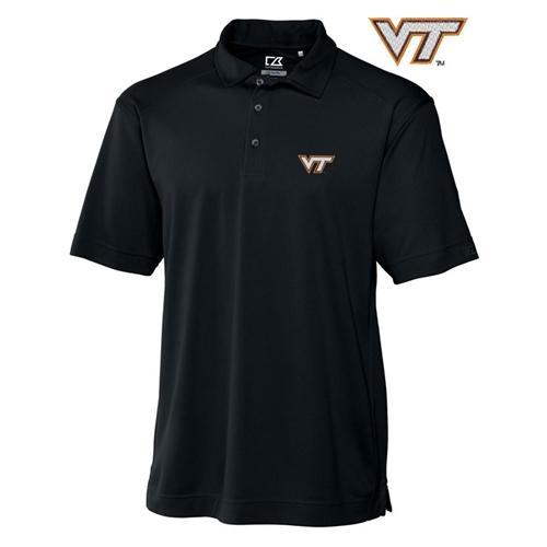 Virginia Tech Cutter And Buck Drytec Genre Polo