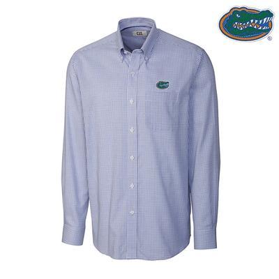 Florida Cutter & Buck Tattersall Woven Dress Shirt