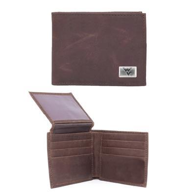 West Virginia Leather Bifold Wallet