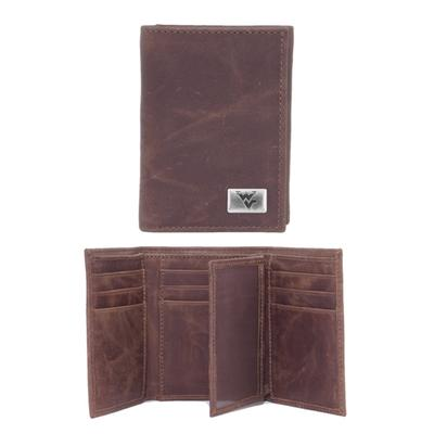 West Virginia Leather Trifold Wallet