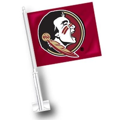 Florida State Seminole Logo Car Flag