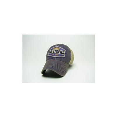 LSU Legacy Wedge Meshback Adjustable Hat
