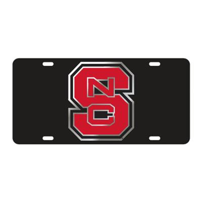 NC State License Plate Black/Red NCS Logo