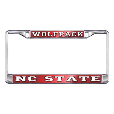 NC State License Plate Frame Wolfpack/NC State