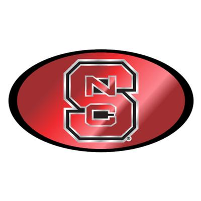 NC State Logo Mirrored Domed Hitch Cover