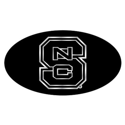 NC State Hitch Cover Black with Silver NCS Logo