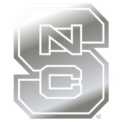 NC State Car Magnet Chrome NCS Logo 3