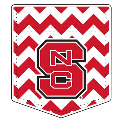 NC State Car Magnet Chevron Pocket 6
