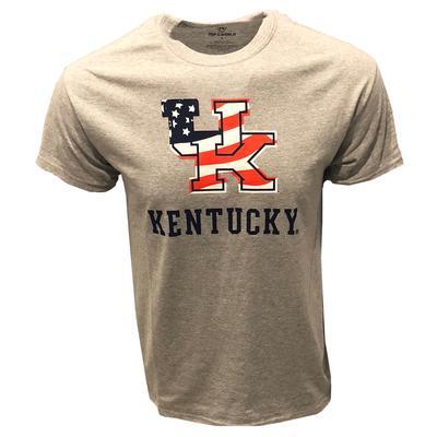 Kentucky American Flag Fill T-shirt