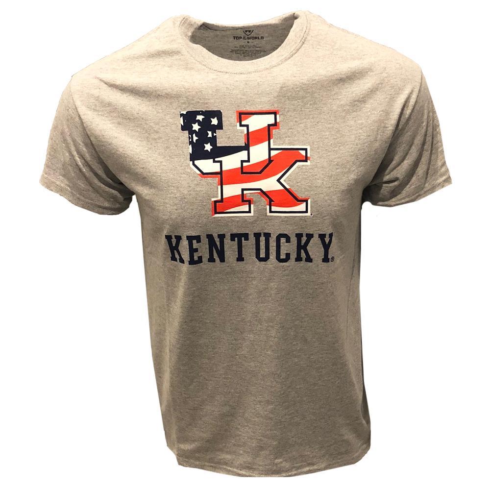 Kentucky American Flag Fill T- Shirt