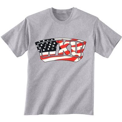 Western Kentucky American Flag Fill T-shirt