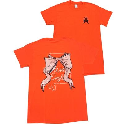 Auburn Women's State Bow T-shirt