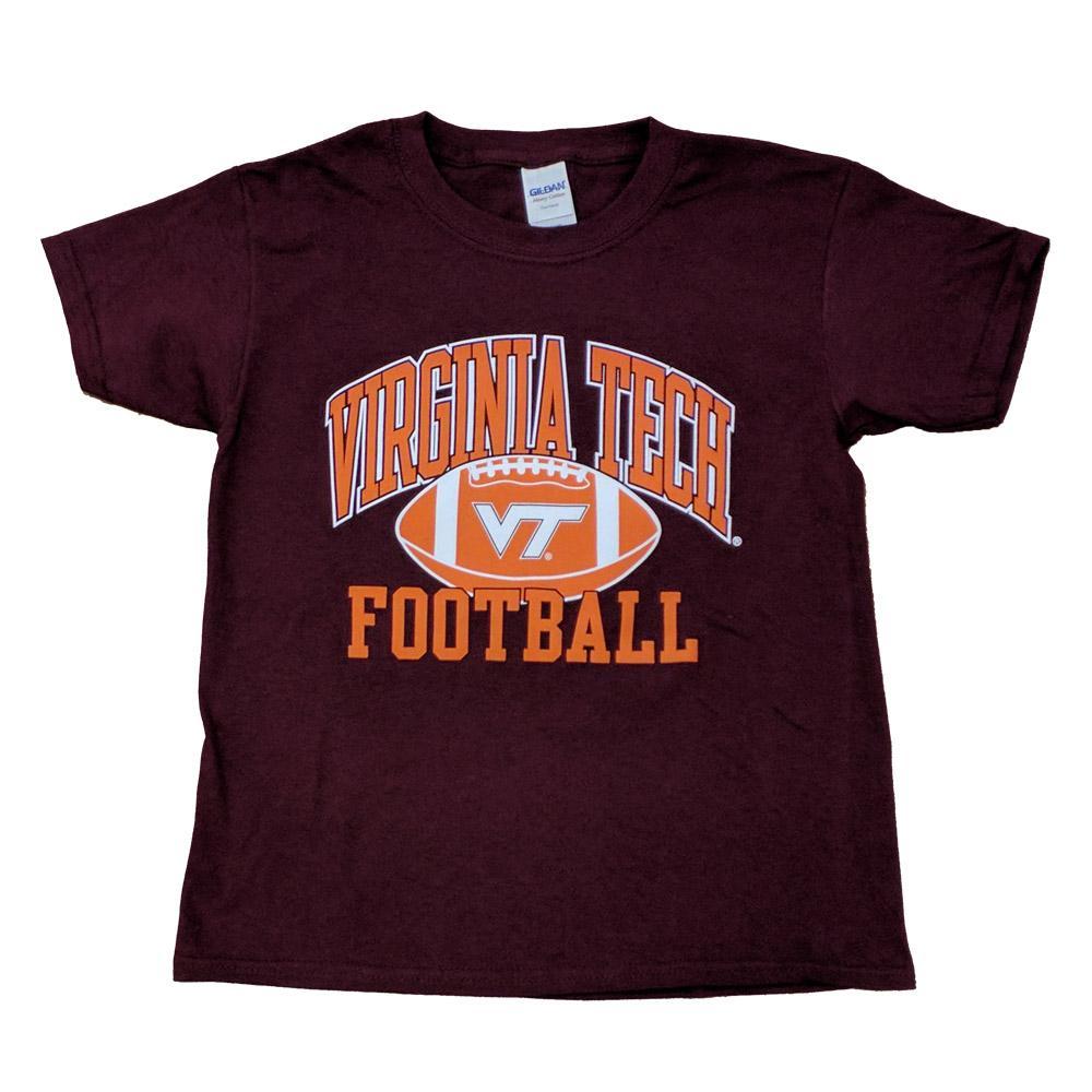 release date b48a8 fdea9 Virginia Tech Youth Arch Football T-Shirt (Orange)