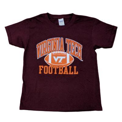 Virginia Tech Youth Arch Football T-Shirt