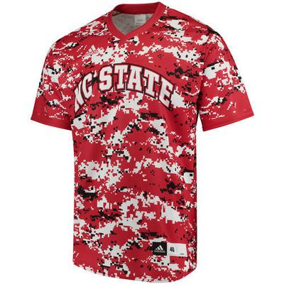 NC State Authentic Baseball Jersey RED_CAMO