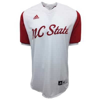 NC State Authentic Baseball Jersey WHITE