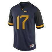 West Virginia Nike Limited Football Jersey # 17