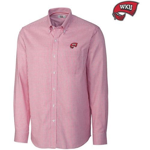 Western Kentucky Cutter And Buck Tattersall Woven Shirt