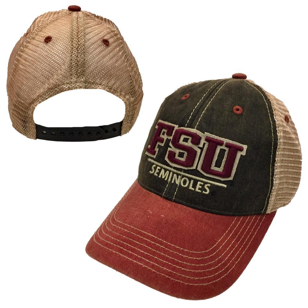 Florida State Legacy Split Line Solid Adjustable Hat