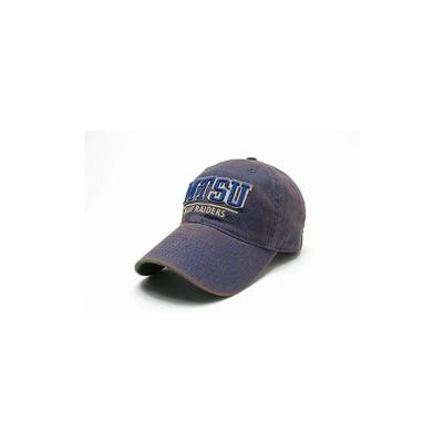 MTSU Legacy Split Line Solid Adjustable Hat BLUE