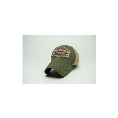 Alabama Legacy Wedge Meshback Adjustable Hat